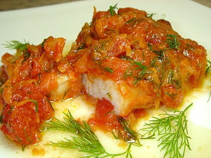 рецепты рыбы в духовке с овощами в соусе