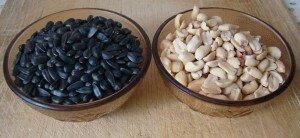 Арахис и семечки